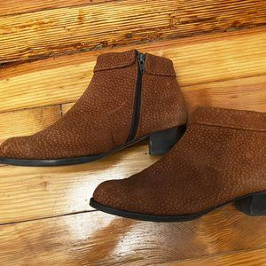 Leather Ankle Boots - Size 10
